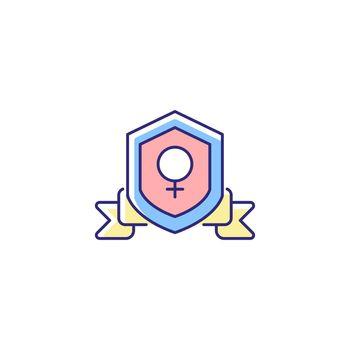 Feminist organization RGB color icon