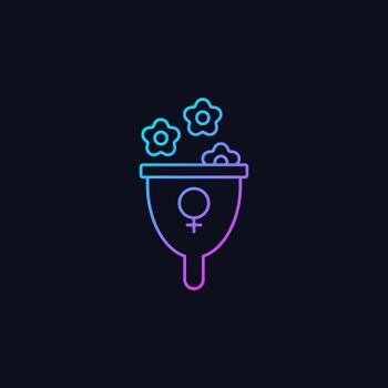 Femininity symbol gradient vector icon for dark theme