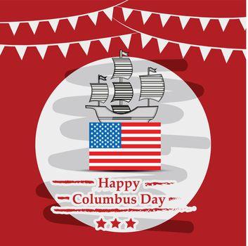 Columbus Day background