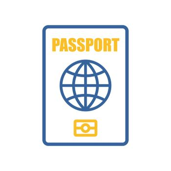Passport vector flat icon, identification symbol