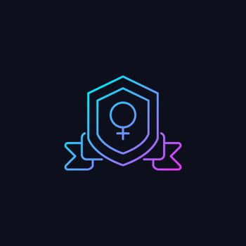 Feminist organization gradient vector icon for dark theme