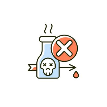 Illegal poison hunting RGB color icon