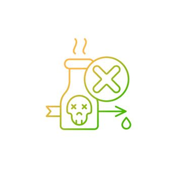 Illegal poison hunting gradient linear vector icon