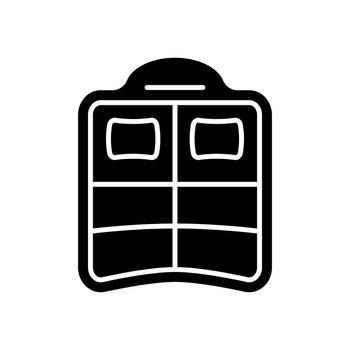 Double pool float black glyph icon