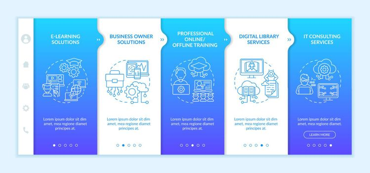 Social unity development projects onboarding vector template