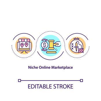 Niche online marketplace concept icon