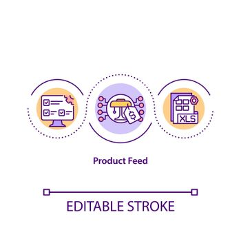 Product feed concept icon