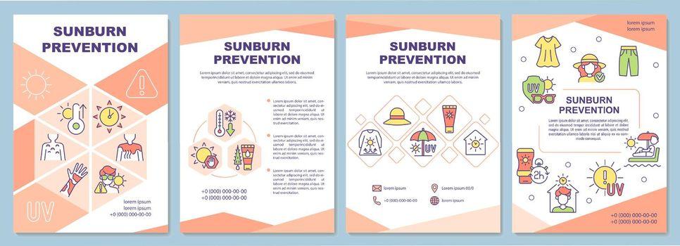 Sunburn prevention brochure template