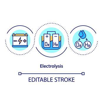 Electrolysis concept icon