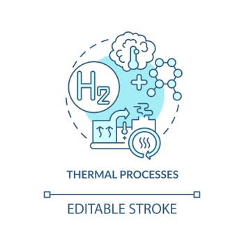 Thermal processes concept icon