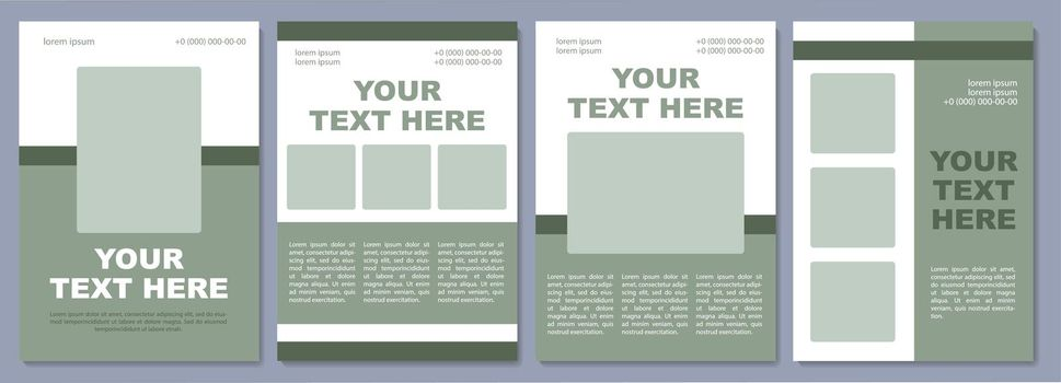 Informative brochure template