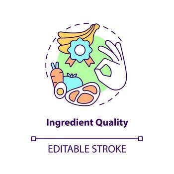 Ingredient quality concept icon