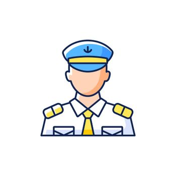 Male chief officer RGB color icon