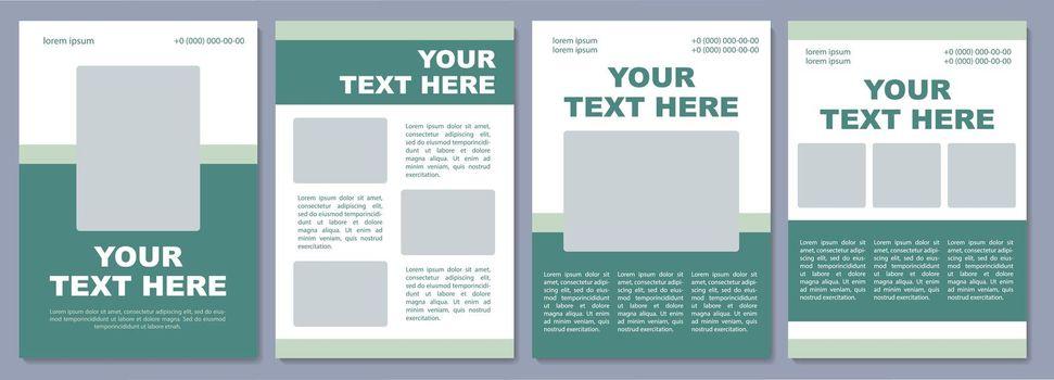 Marketing campaign brochure template