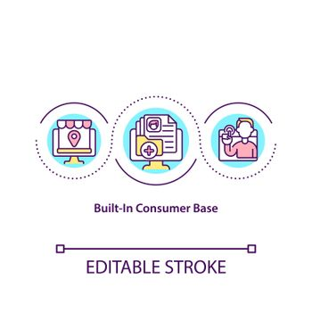 Built in consumer base concept icon