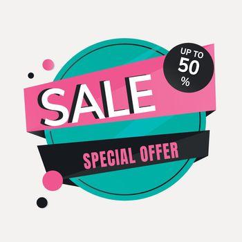 Sale badge  sticker, vector shopping clipart