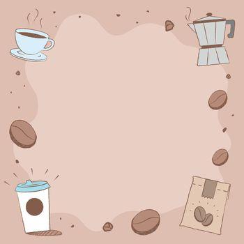 Coffee shop Instagram post background vector