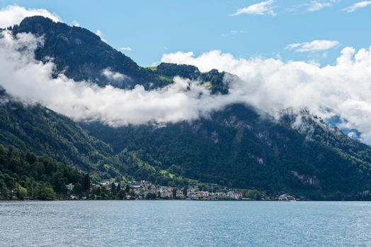 Landscape with Lake Lucerne and Alps, Switzerland