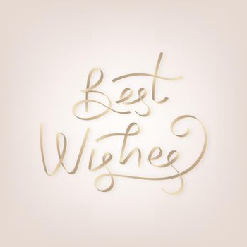 Golden best wishes typography vector