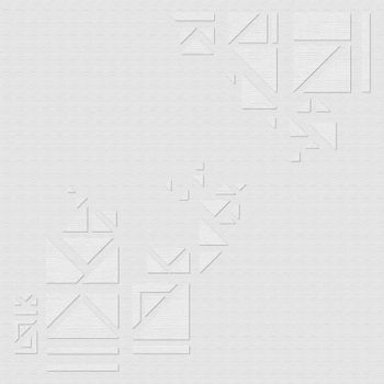 Geometric triangles on a gray background design resource vector