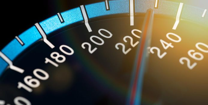 Detail of needle of odometer or speedometer of a car 14