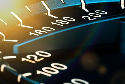 Detail of needle of odometer or speedometer of a car 4