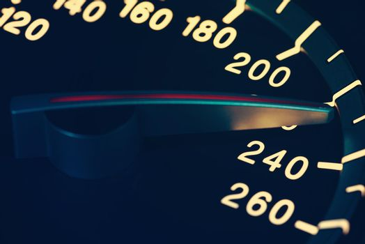 Detail of needle of odometer or speedometer of a car 13