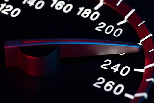 Speed detail tachometer macro shot 9