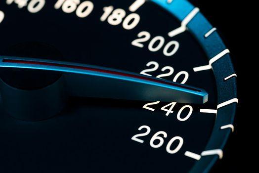 Speed detail tachometer macro shot 5