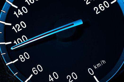 Speed detail tachometer macro shot 2