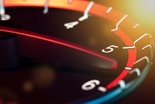 Rpm car odometer detail