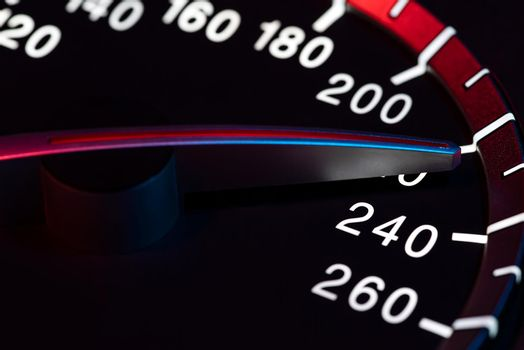 Speed detail tachometer macro shot 7