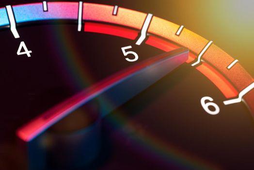 Rpm car odometer detail 5