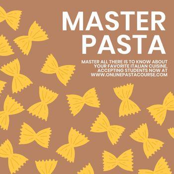 Master pasta pasta food template vector cute doodle social media post