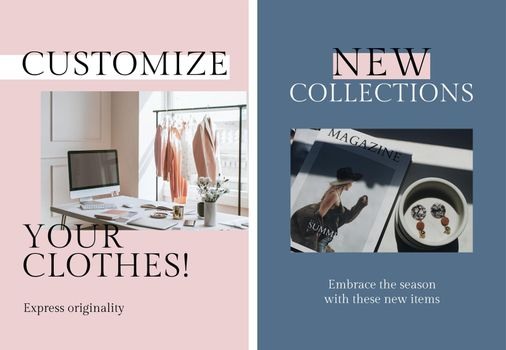 Eco fashion business template vector set