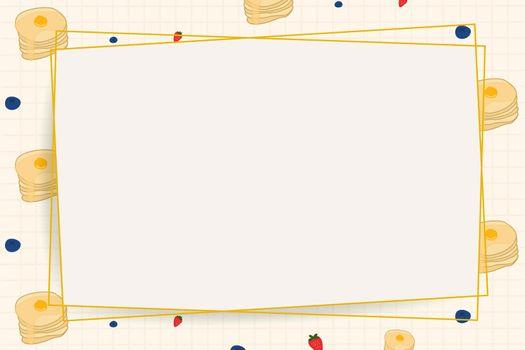 Vector paper frame on food pattern background