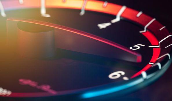 Rpm car odometer detail 2