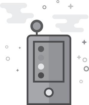Flat Grayscale Icon - Densitometer