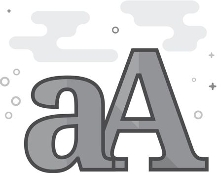 Flat Grayscale Icon - Font