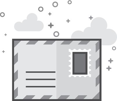 Flat Grayscale Icon - Envelope