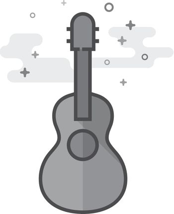 Flat Grayscale Icon - Guitar