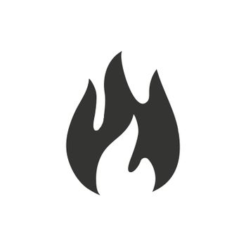 Fire icon. Meticulously designed vector EPS file.