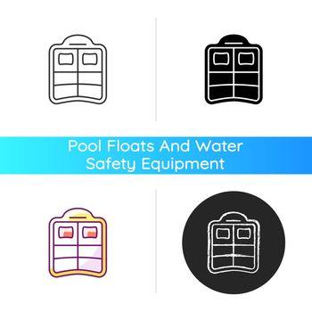 Double pool float icon