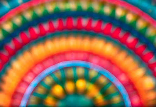 Beautiful Blur Rainbow Background
