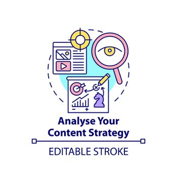 Analyse content strategy concept icon