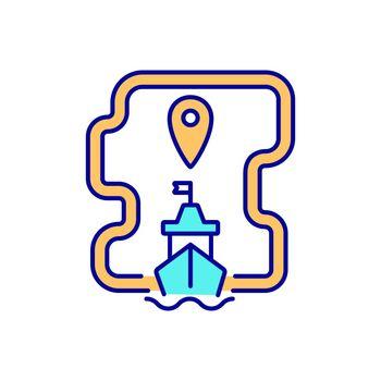 International maritime trade RGB color icon