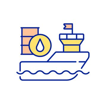 International freight shipping RGB color icon