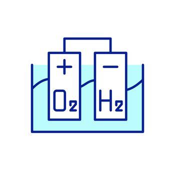 Hydrogen production RGB color icon