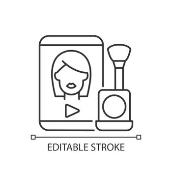 Make up tutorial videos linear icon
