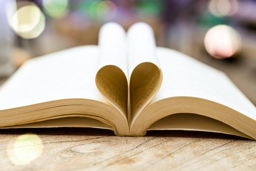book in heart shape, wisdom and education concept, world book and copyright day